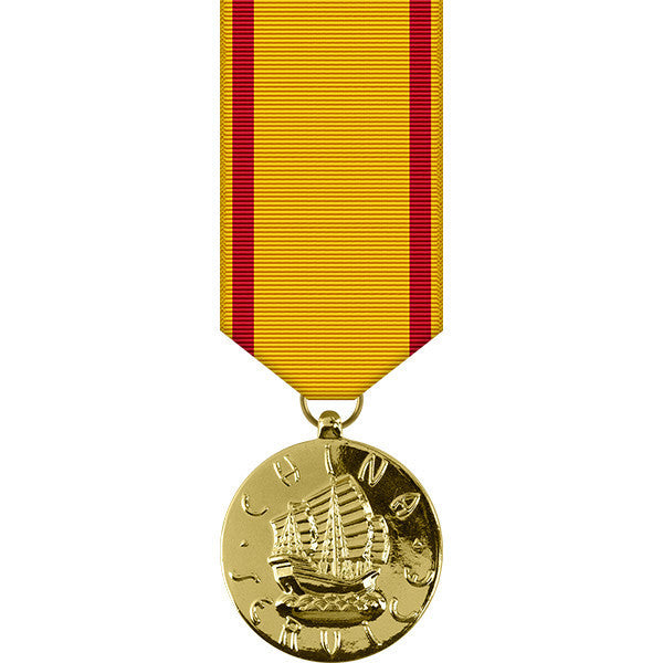 Navy China Service Anodized Miniature Medal