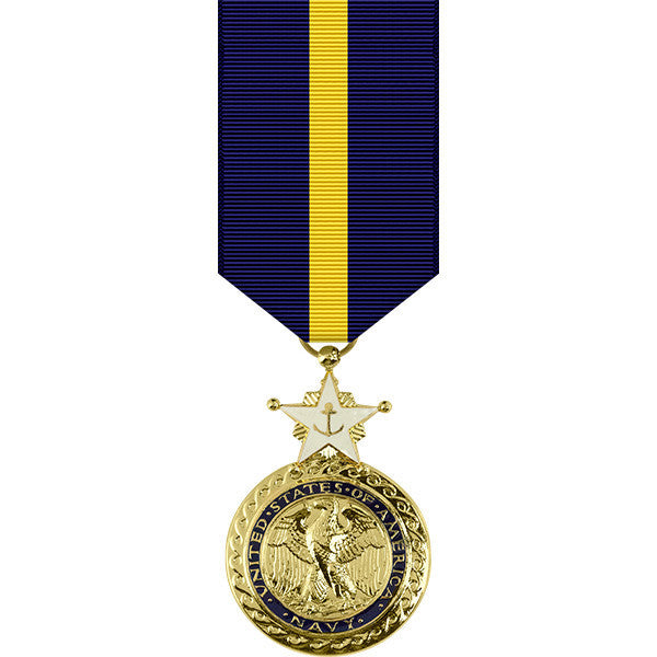 Navy Distinguished Service Anodized Miniature Medal
