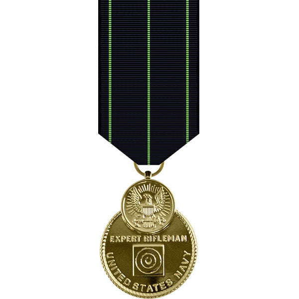 Navy Expert Rifle Anodized Miniature Medal