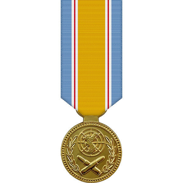 Republic of Korea War Service Anodized Miniature Medal