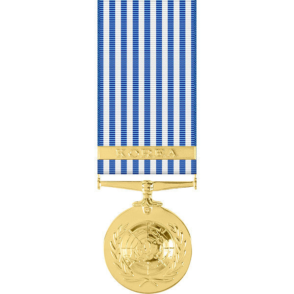 United Nations Korean Service Anodized Miniature Medal