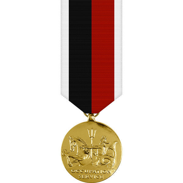 World War II Navy Occupation Anodized Miniature Medal