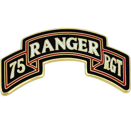 75th Ranger Regiment Scroll Combat Service Identification Badge