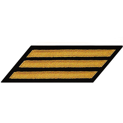 U.S. Navy Enlisted Seaworthy Gold on Blue 3-Stripe (Male Size)