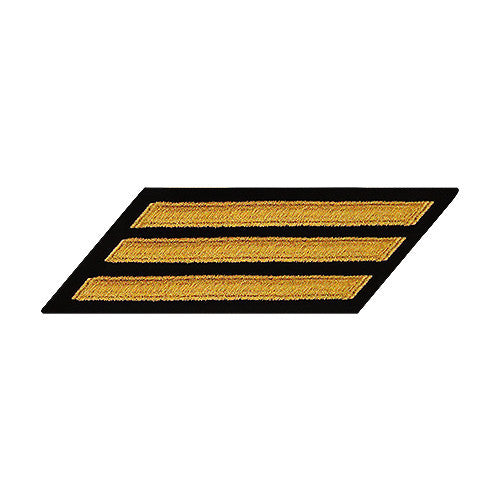 U.S. Navy Enlisted Seaworthy Gold on Blue 3-Stripe (Female Size)