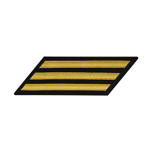 U.S. Navy Enlisted Gold Lace on Blue 3-Stripe (Female Size)