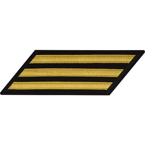 U.S. Navy CPO Gold Lace on Blue 3-Stripe
