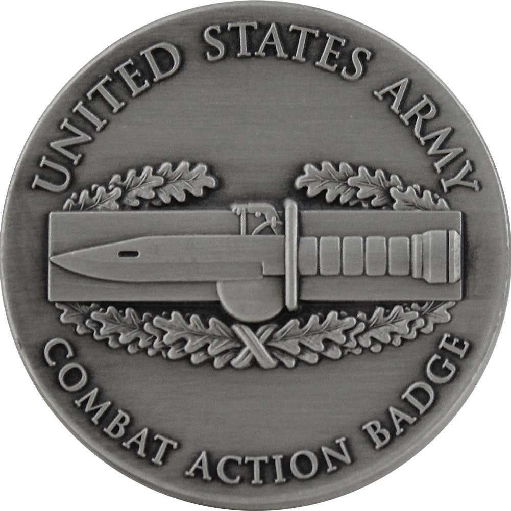 U.S. Army Combat Action Badge Coin - Front
