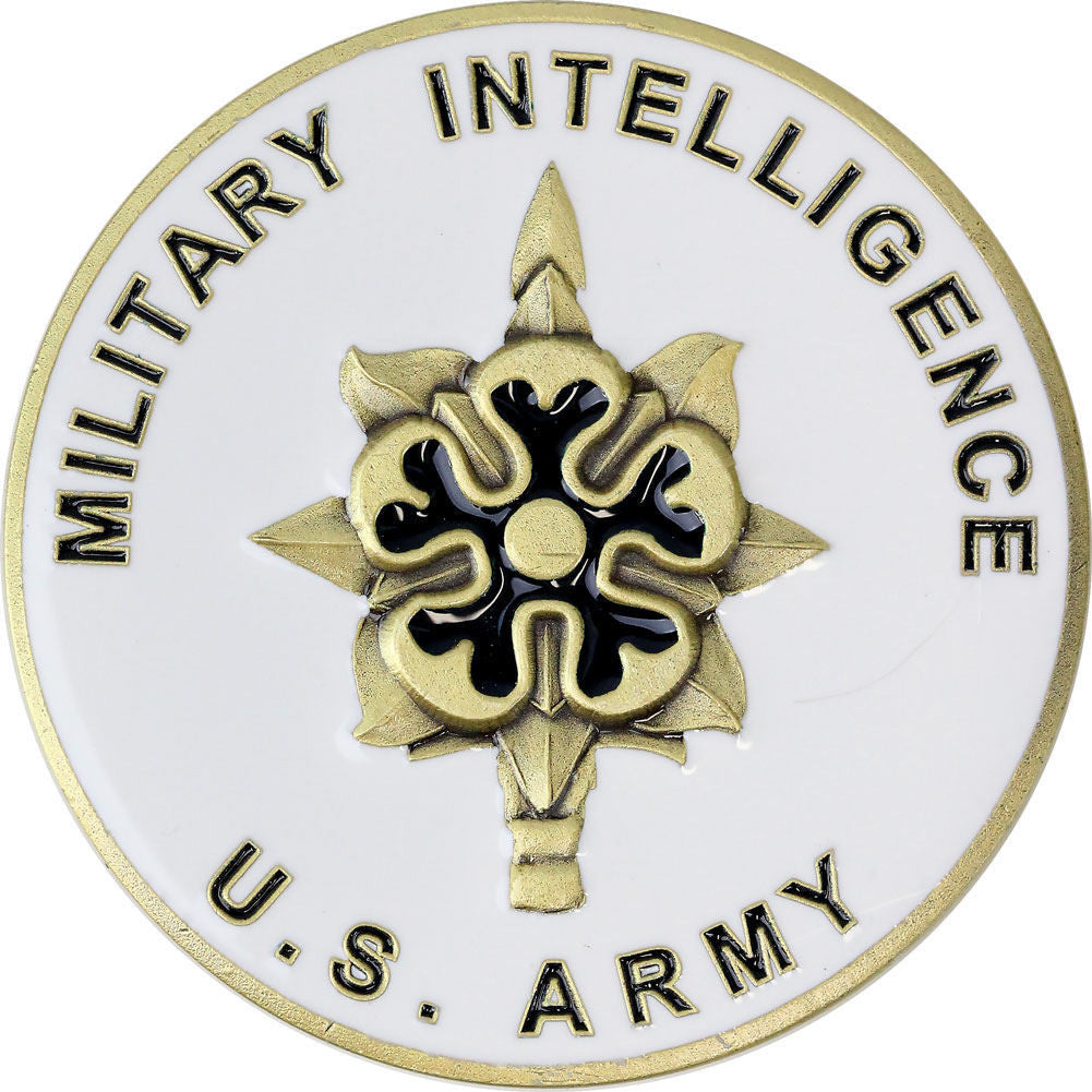 U.S. Army Military Intelligence Coin - Front