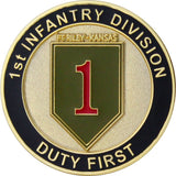 U.S. Army 1st Infantry Division Coin