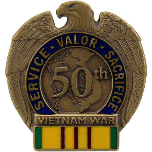 50th Anniversary Vietnam War Service Lapel Pin