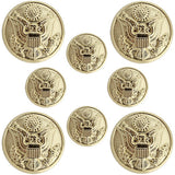 Army Dress Uniform Buttons - Eagle Hopper With Toggles