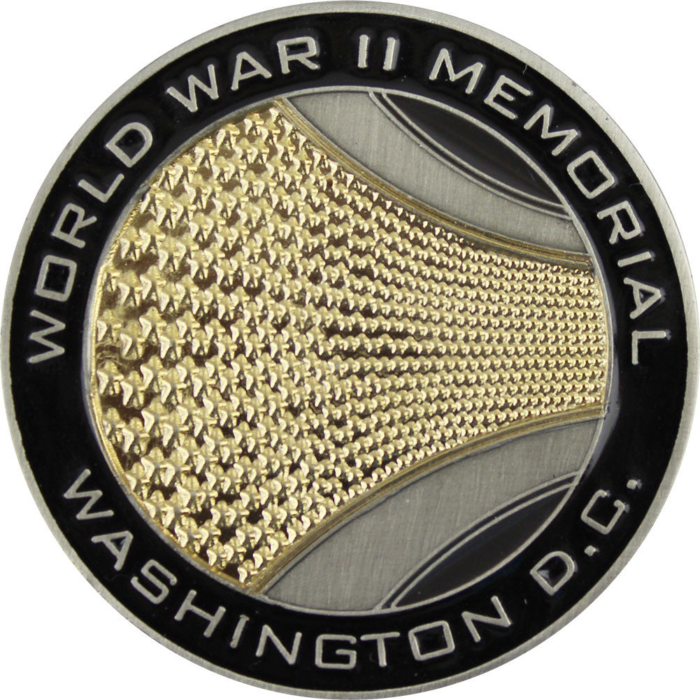 World War II Memorial Coin - Back