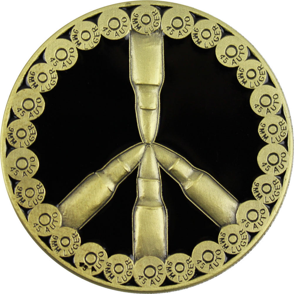 Peace Through Superior Firepower Coin - Back