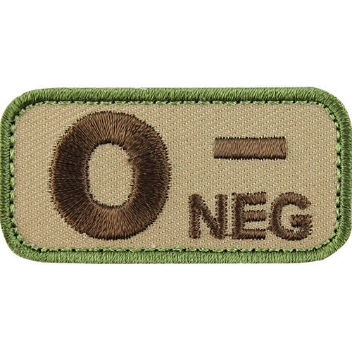 O Negative Blood Type MultiCam (OCP) Patch