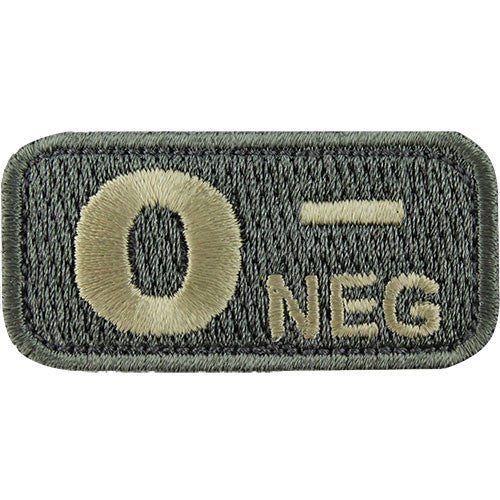 O Negative Blood Type ACU Patch