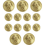 Marine Corps Dress Uniform Button Set - Eagle, Globe and Anchor