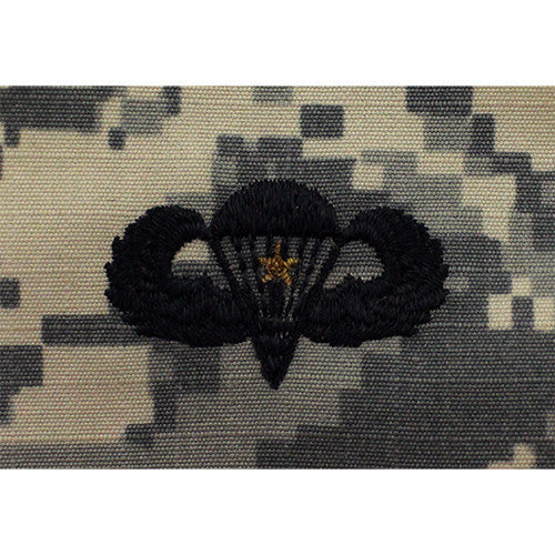 U.S. Army Basic Combat Parachutist Badge (1 Jump) - ACU Embroidered