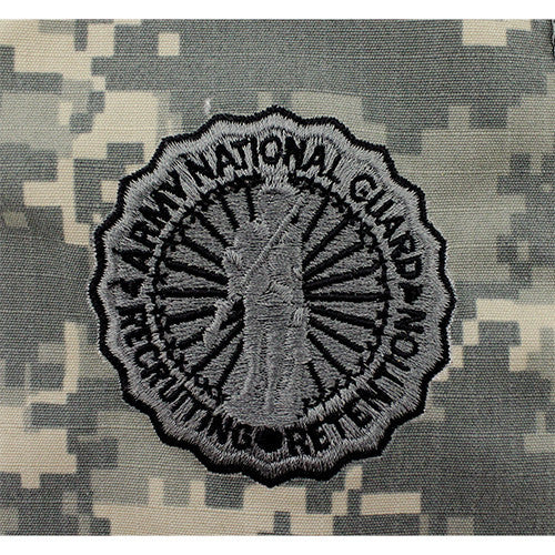 U.S. Army National Guard Basic Recruiting and Retention Identification Badge - ACU Embroidered