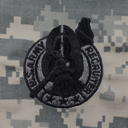 U.S. Army Basic Recruiter Badge - Silver - ACU Embroidered