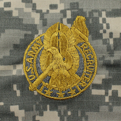 U.S. Army Basic Recruiter Badge - Gold - ACU Embroidered