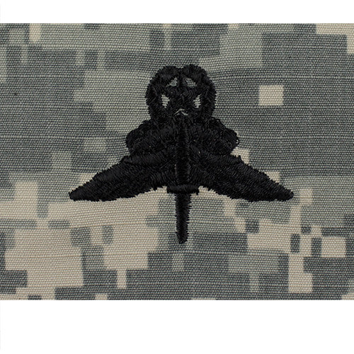 Military Free Fall Jumpmaster Parachute Embroidered ACU Badge