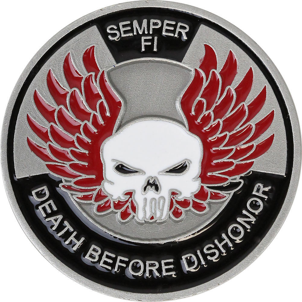 U.S. Marine Corps 'Death Before Dishonor' Coin - Front