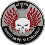 U.S. Marine Corps 'Death Before Dishonor' Coin