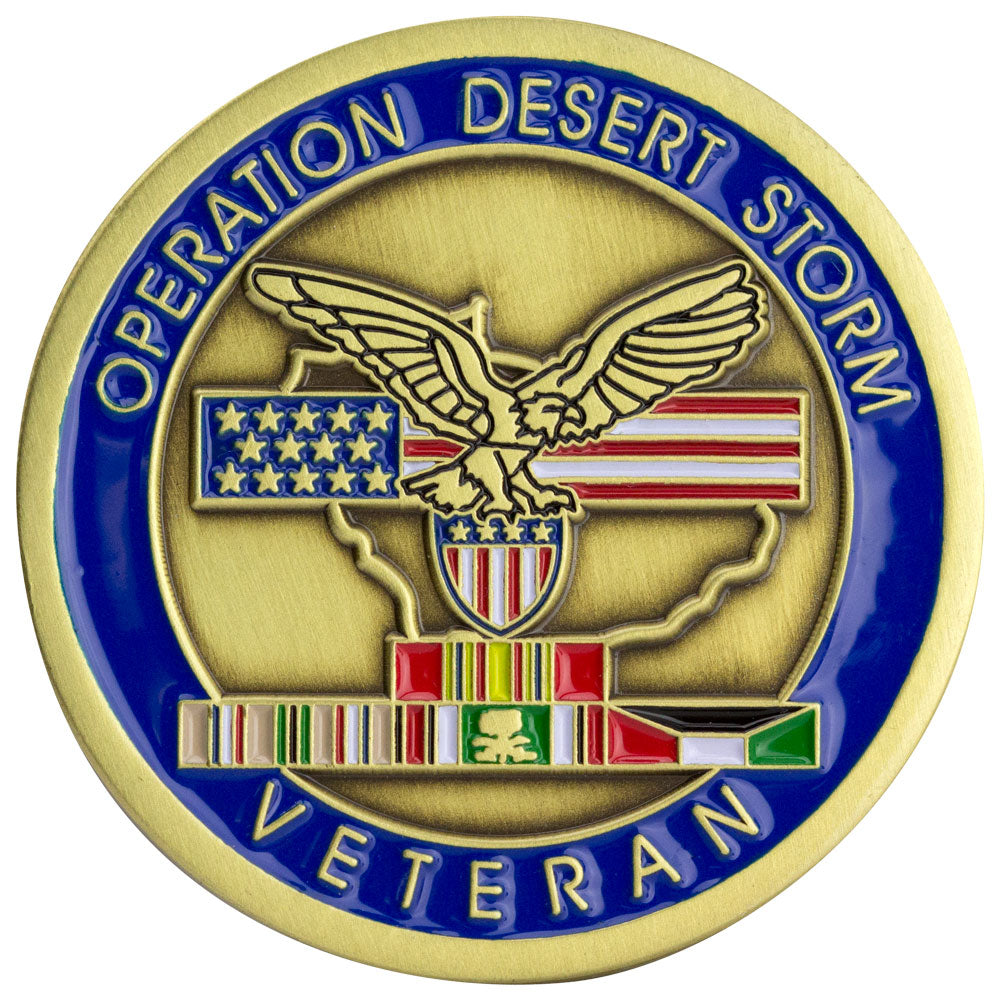 Veteran Operation Desert Storm Coin