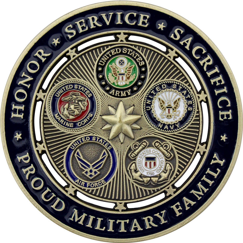 Proud Military Family Coin - Back