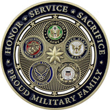 Proud Military Family Coin