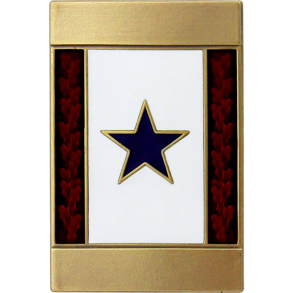 Blue Service Star Engravable Lapel Pin
