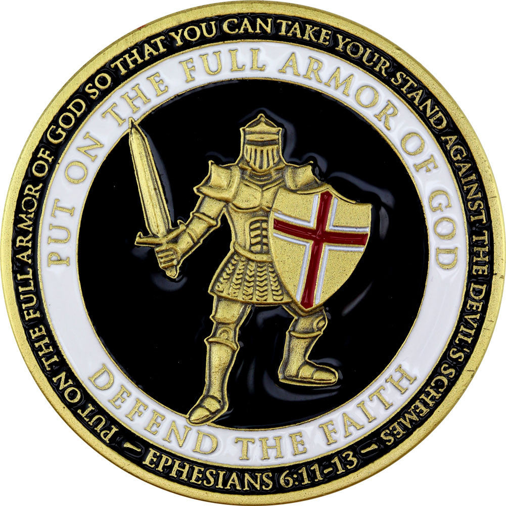Armor of God - US Army Challenge Coin - Front