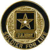 Army Soldier for Life Lapel Pin