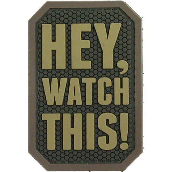 Hey, Watch This PVC Morale Patch - MultiCam