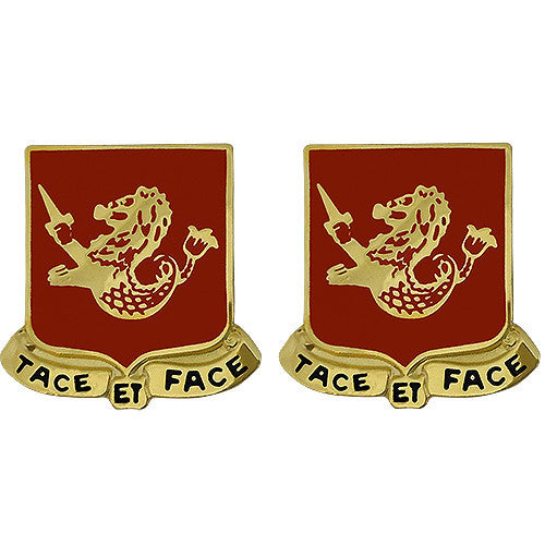 25th Field Artillery Regiment Unit Crest (Tace Et Face)