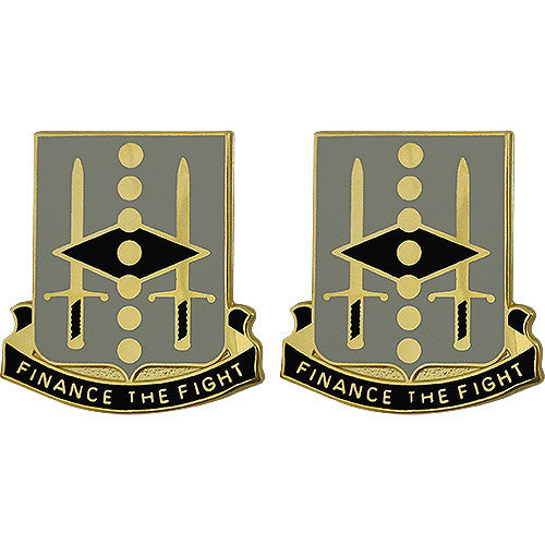 27th Finance Battalion Unit Crest (Finance the Fight)