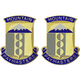 33rd Finance Battalion Unit Crest (Mountain Paymasters)