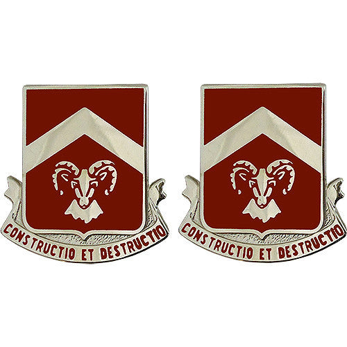 40th Engineer Battalion Unit Crest (Constructio Et Destructio)