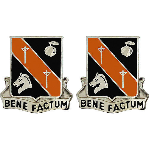 40th Signal Battalion Unit Crest (Bene Factum)