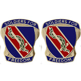 43rd Adjutant General Battalion Unit Crest (Soldiers For Freedom)