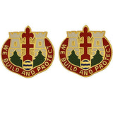 Engineer Brigade, 38th Infantry Division Unit Crest (We Build and Protect)