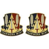 50th Personnel Services Battalion Unit Crest (Teamwork Wins)
