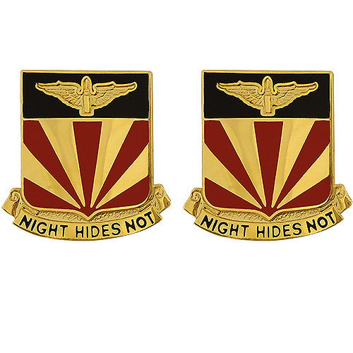 56th ADA (Air Defense Artillery) Regiment Unit Crest (Night Hides Not)