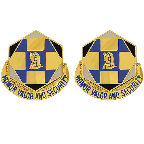 66th Military Intelligence Brigade Unit Crest (Honor Valor and Security)