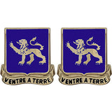 68th Armor Regiment Unit Crest (Ventre A Terre)
