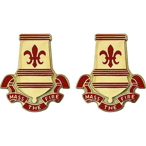 82nd Airborne Division Artillery Unit Crest (Mass the Fire)