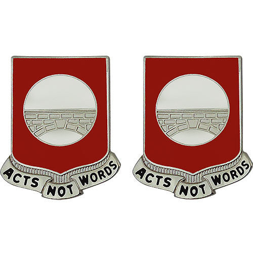 91st Engineer Battalion Unit Crest (Acts Not Words)