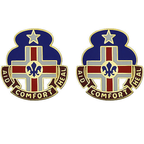 94th Combat Support Hospital Unit Crest (Aid Comfort Heal)