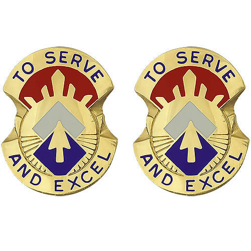 96th Sustainment Brigade Unit Crest (To Serve and Excel)